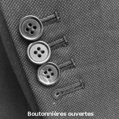 Boutonnières de costume ouvertes
